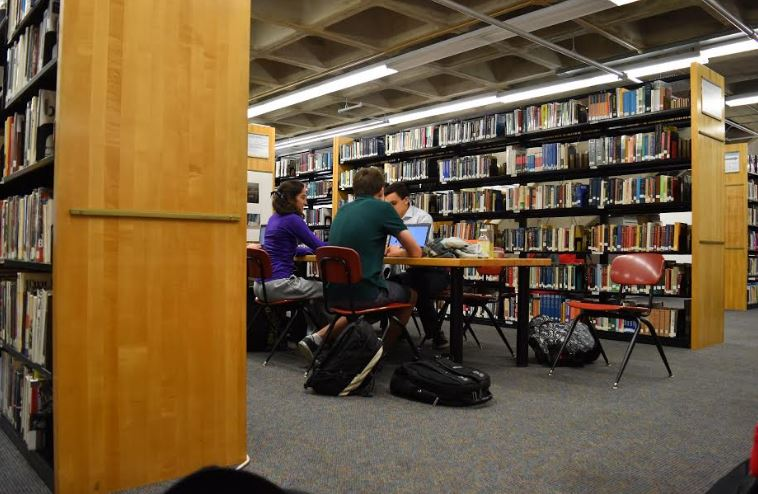NOT ENOUGH SPACE. The library spaces at St. Paul Academy and Summit School lack the space necessary to be productive.