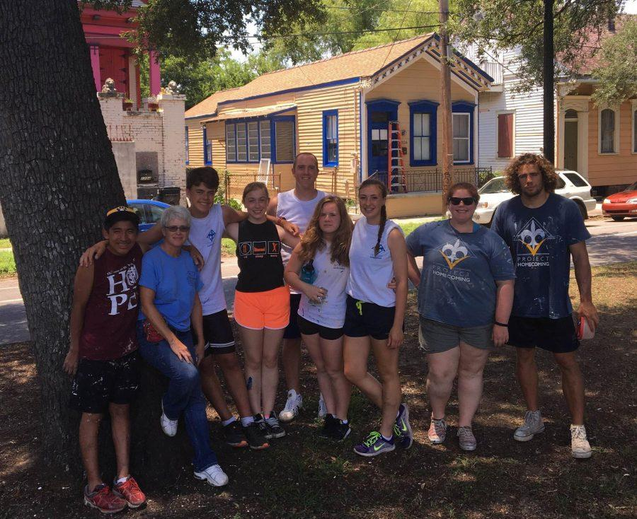 Sophomore+Lauren+Osteraas+went+on+a+volunteer+trip+over+the+summer+to+aid+in+the+rebuilding+of+houses+in+New+Orleans+that+were+destroyed+from+Hurricane+Katrina+in+2005.+%22It+was+challenging+to+see+how+much+poverty+and+damage+there+still+was+after+so+many+years+after+Katrina.+We+did+everything+we+could+to+make+it+the+best+it+could+be+under+the+circumstances+and+it+gave+us+hope+to+know+that+there+were+still+thousands+of+other+volunteers+coming+down+to+help+with+the+thousands+of+other+houses+and+people+that+are+still+struggling%2C%E2%80%9D+Osteraas+said.+Submitted+Photo%3A