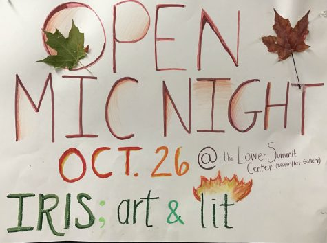 Iris hosts open mic night to spread love of art and literature