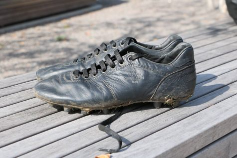 "Sophomore Husaam Qureishy said that he stays away from trendy brands of soccer cleats.  He recently came across an Italian brand, Pantofola D'Oro, that makes leather cleats that are ""good-looking and non-flashy,"" Qureishy said."