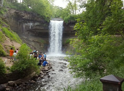 Minnehaha Falls provides both easy and challenging trails in a scenic environment.