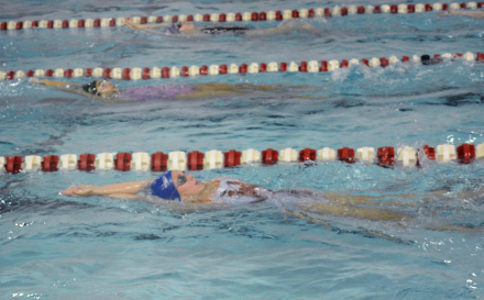 "The Girls Swimming and Diving team has had a successful start to their season, and they continue to improve and set goals. Sophomore Michaela Polley appreciates being in the pool with her team. ""I enjoy spending time with the team and the tight community we have. I know the other girls on the team really well and that helps me when I am leading them,"" Polley said."