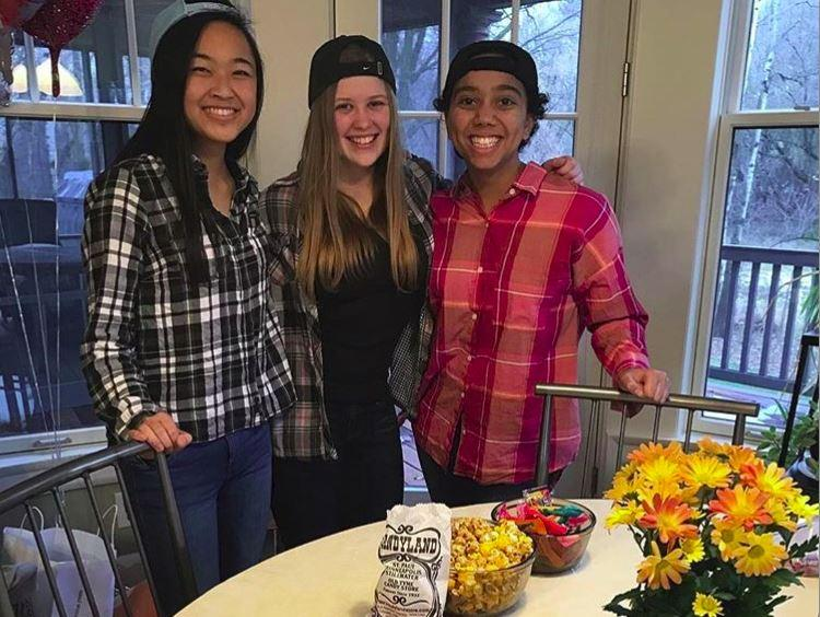 Juniors Julia Wang, Dorienne Hoven, and Noa Carlson got together on Nov. 25 to watch the Netflix series