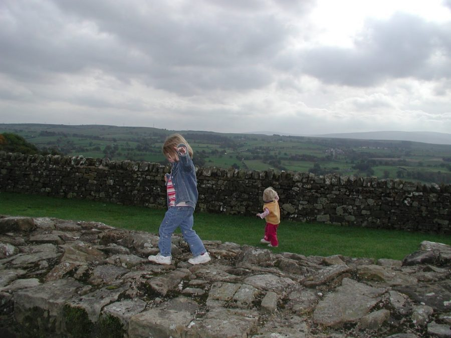 Current ninth grader Ayla Straub walking along Hadrian's Wall in Northern England during the time she lived in England.