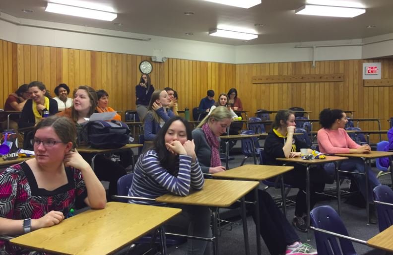Many students came to watch the Poetry Out Loud competition on Dec. 6.