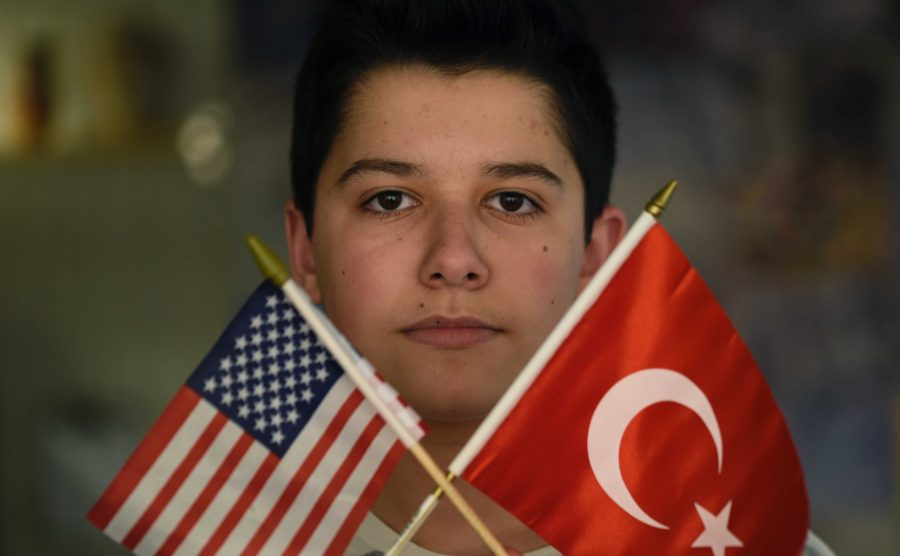"""Sophomore Ethan Dincer describes his Turkish-American identity as being able to view issues from both his American identity and his Turkish identity. """"Being Turkish-American means that I have a different viewpoint and knowledge of somewhere else in the world, because I was brought up with that culture,"""