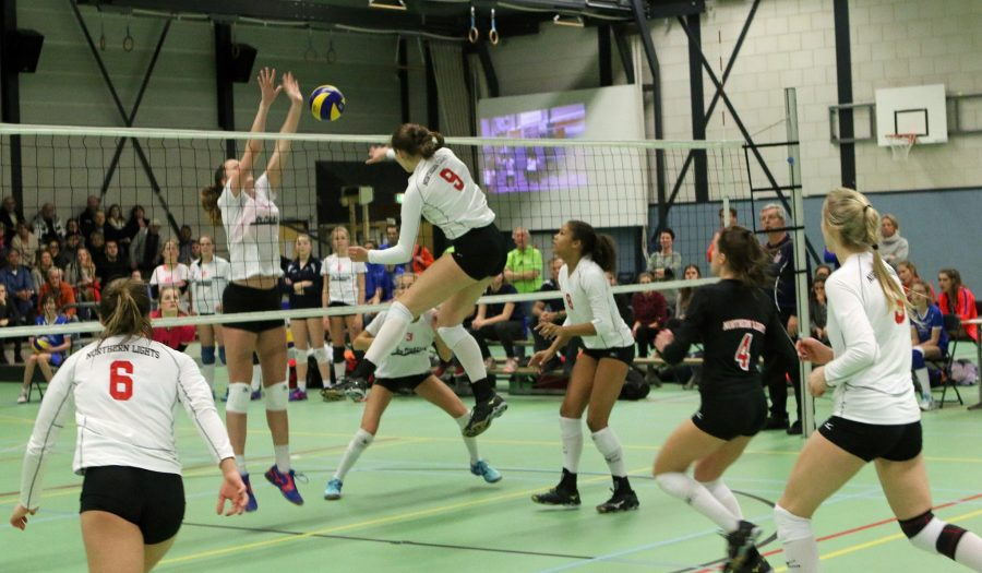 The Northern Lights, Rients' travelling volleyball team, playing one of the Netherlands volleyball teams.