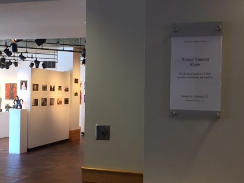The yearly Winter Art Exhibition highlights student art work made during the first semester of school.
