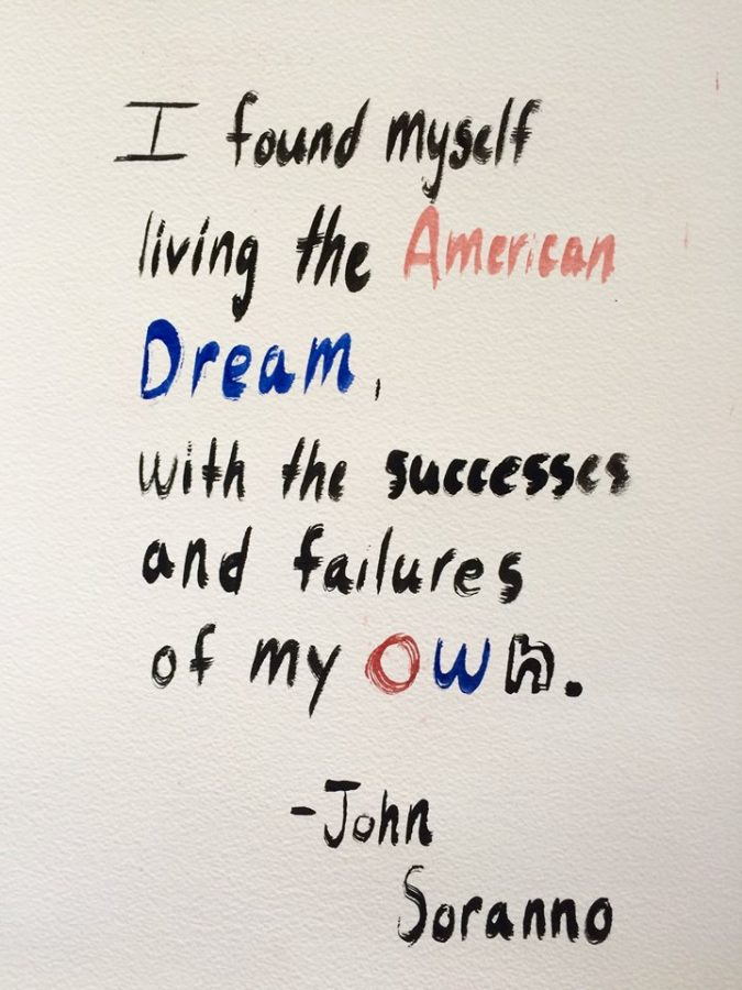 I found myself living the American Dream, with the successes and failures my own, senior John Soranno said during his senior speech on Nov. 29.