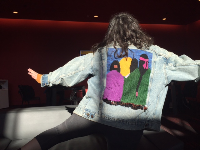 Junior+Mira+Zelle+poses+in+her+denim+jacket+with+needlepoint+done+by+her+mother.+%22My+favorite+piece+of+my+mom%27s+is+my+needle+pointed+jean+jacket+that+I+wear+because+it+looks+really+sick+and+I+love+that+I+can+bring+a+little+bit+of+her+with+me+and+still+look+mad+cool%2C%22+Zelle+said.+