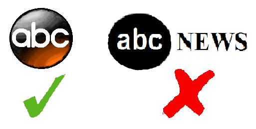 To the left, the logo of the true abc news website is shown. However, to the right, the logo of the fake site abcnews.com.co is shown. Pay attention to whether news is real or fake.
