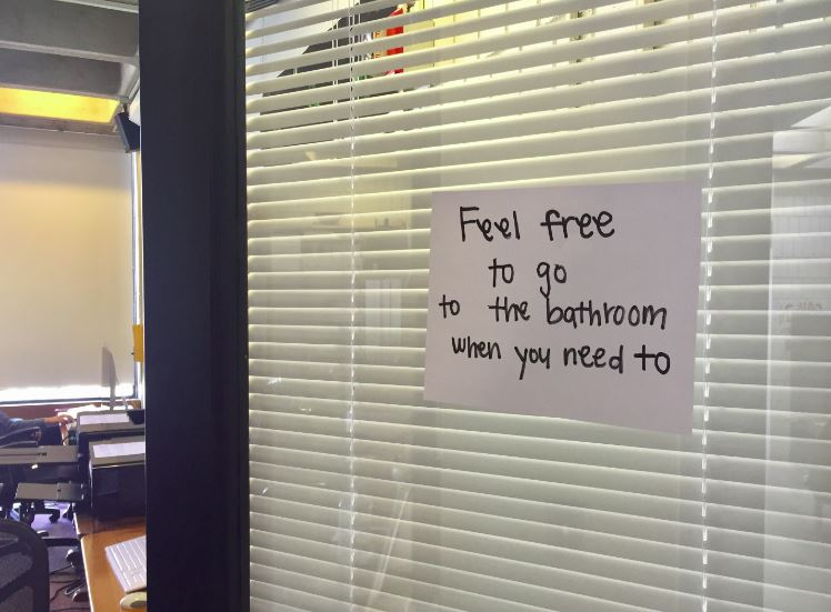 In high school, students should be able to go to the bathroom when the please during class.