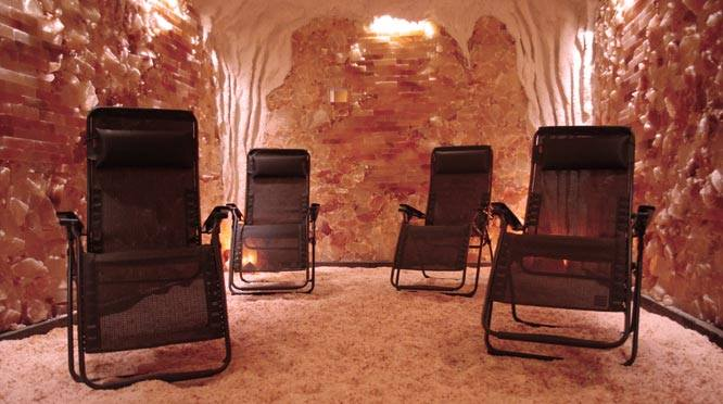 The Salt Cave features salt gravel floors and anti-gravity chairs. It is like a mini vacation, Wertkin said.