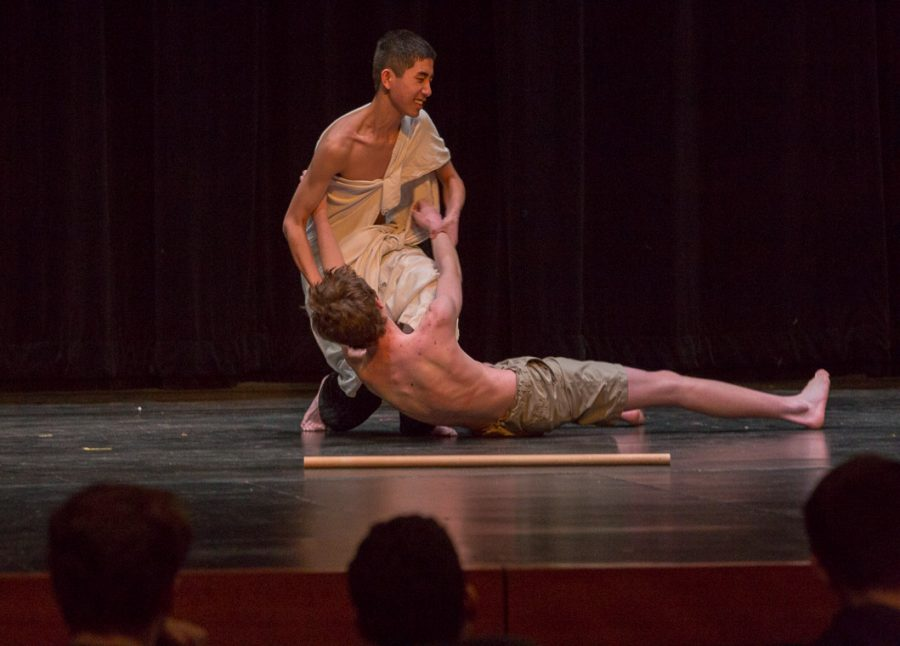 Alex Herrmann does a spectacular job as a wounded gladiator. Their scene won Best Fight Choreography.