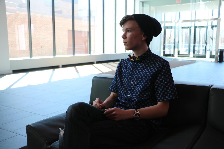 Sophomore Charlie Gannon expresses emotion through SoundCloud music playlist.