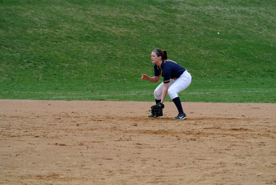 Captain Clare Tipler prepares for a hit