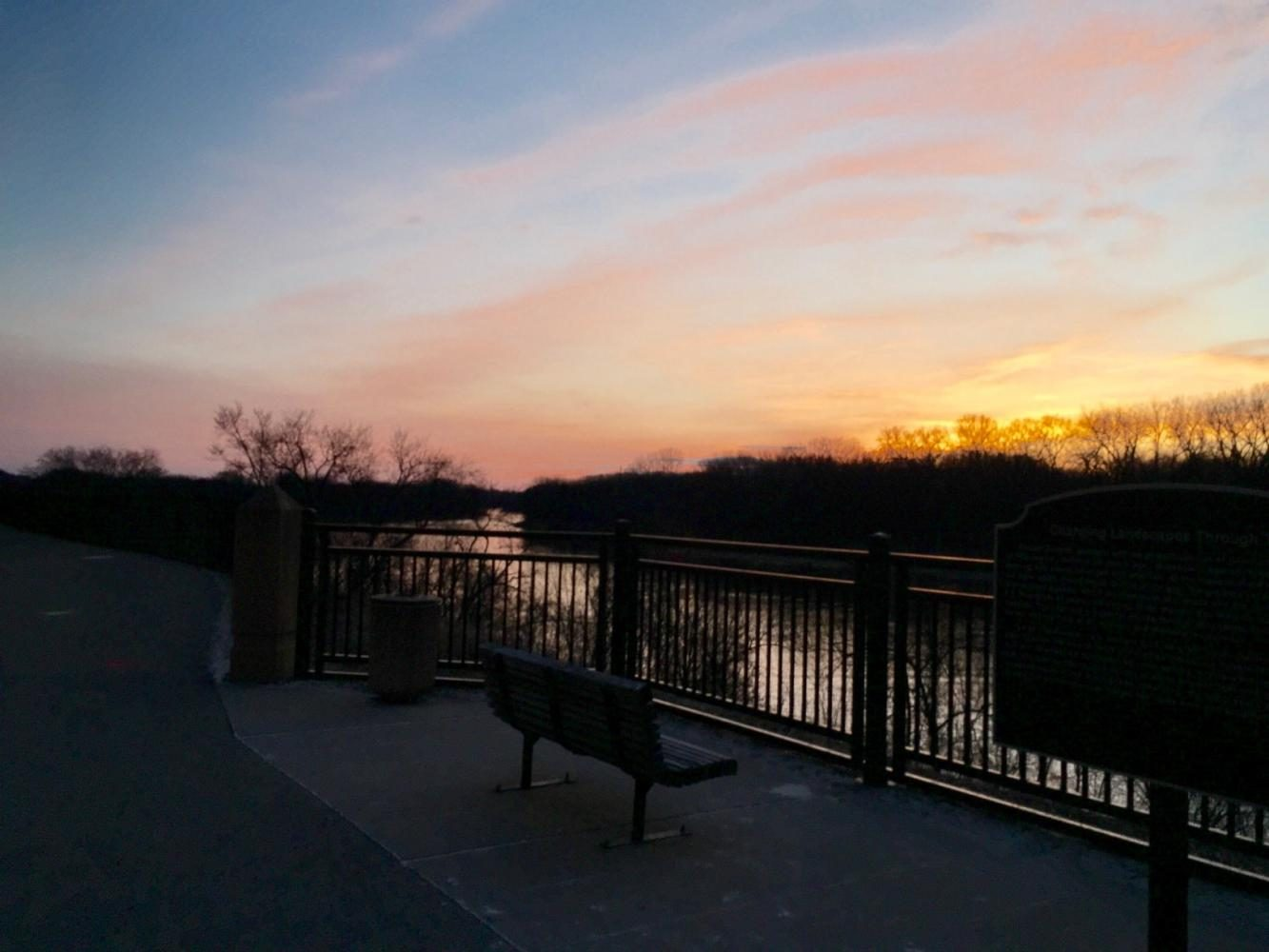 Outdoor paths near the Mississippi River are great places to exercise and enjoy spring weather.