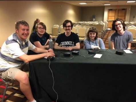 Junior Peter Blanchfield and seniors Bailey Troth, Coleman Thompson, Phoebe Pannier, and Paul Watkins competed at Quiz Bowl Nationals over Memorial Day weekend.  The team finished 142 out of approximately 340 teams.