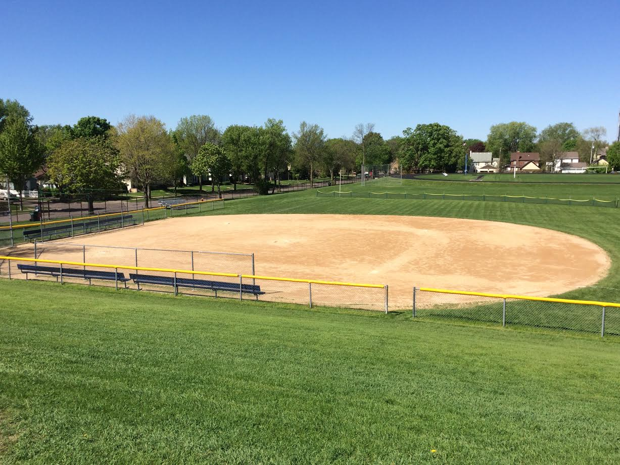 On game days, the site of the team spirit brought out by the team's music is the home softball diamond at the Randolph Campus.