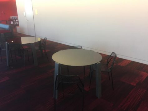 Some of the Huss Center tables should be moved into the Upper Library