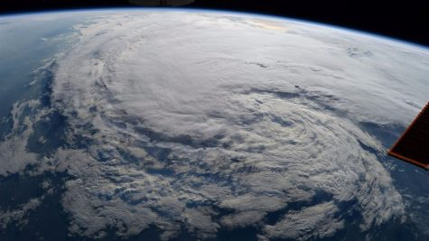 This image of Hurricane Harvey was captured from the international space station on Aug. 28.