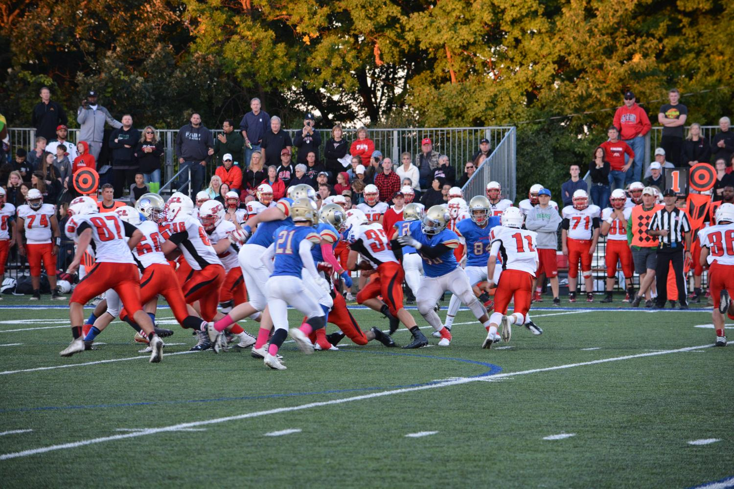 Massive pile up between Crusader's Offense and Wolfpack defense