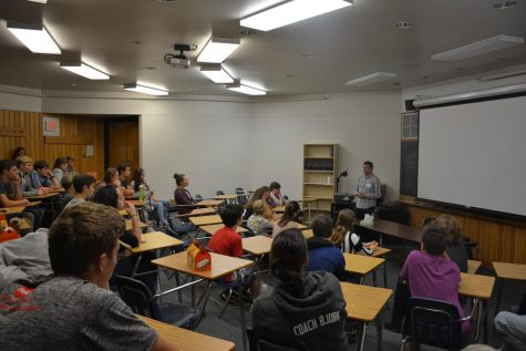 Matt Hancher talked to students about his work at Google and NASA, and answered various questions.