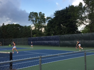 Spartan Girls Tennis loses to Centennial in early season match
