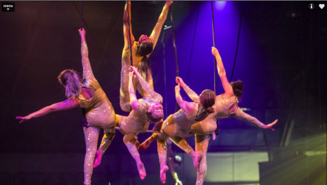 Tadavarthy and other members of the static trapeze perform on a bar at Circus Juventas.