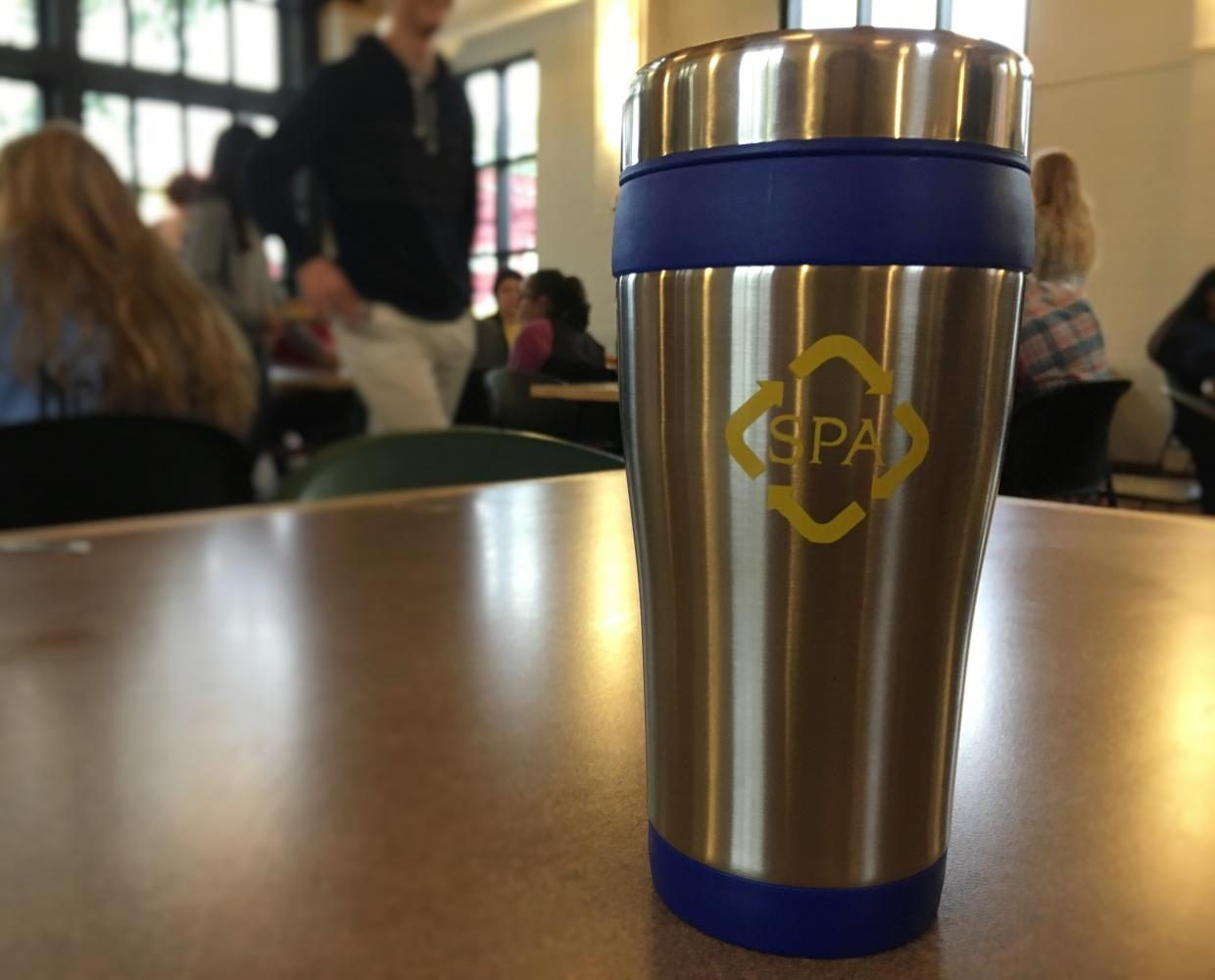 U.S.C. will sell reusable bottles and mugs to reduce waste at SPA.