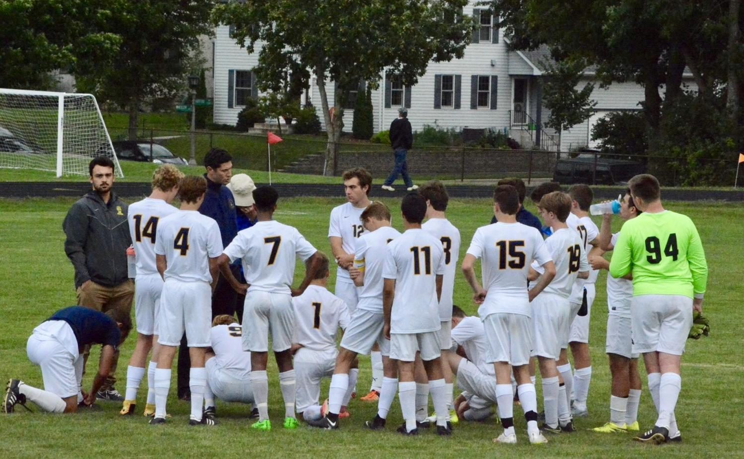The+Boys+Varsity+Soccer+team+played+against+Providence+Academy+and+Sept.+5+at+SPA.+SPA+won+with+a+final+score+of+3-1.