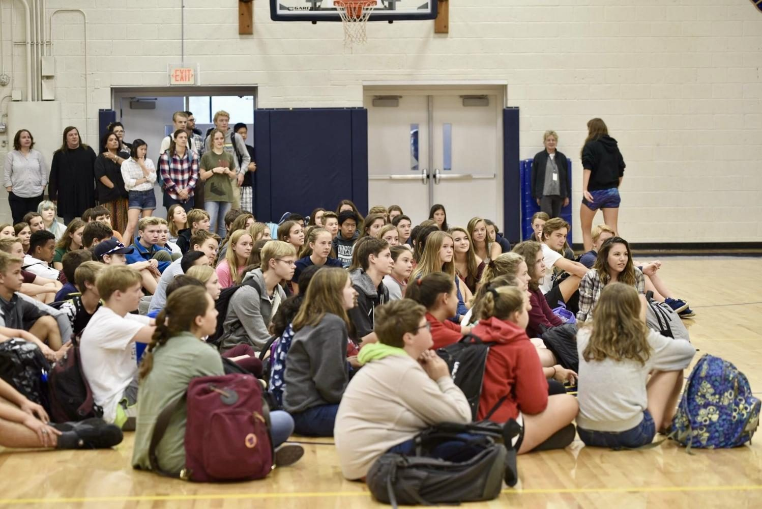 9th+graders+gathered+in+Briggs+Gymnasium+on+Sept.+11+for+the+US+Student+Clubs+Fair.