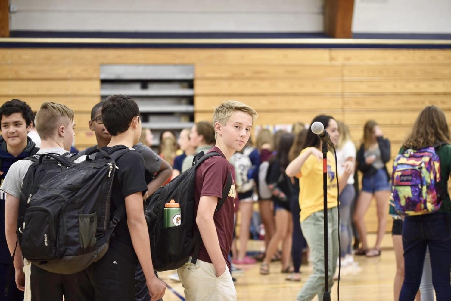 9th graders gathered in Briggs Gymnasium on Sept. 11 for the US Student Clubs Fair.