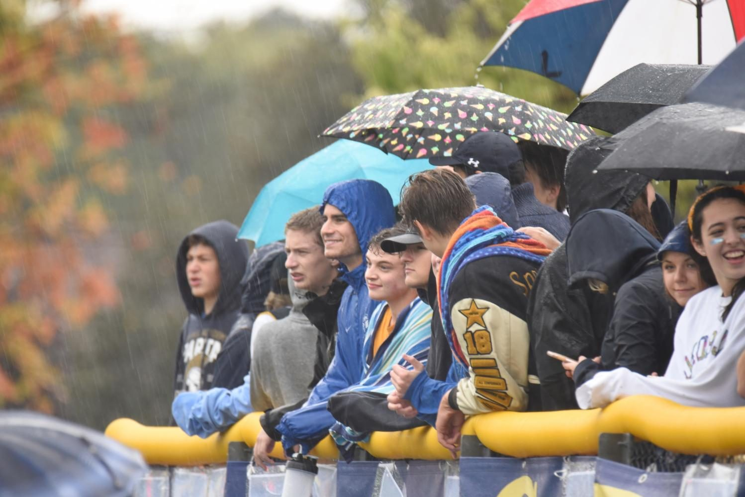The fans were in high spirits throughout the game, even with the chilling conditions.
