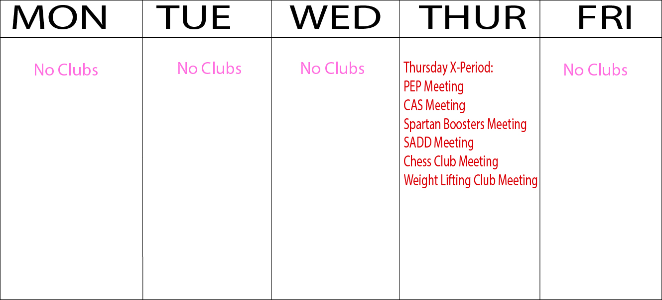 Almost all clubs meet during one time, which limits students to participating in just one club.