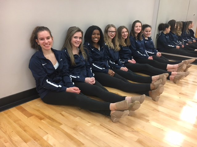 """DANCE LINE. With student leaders, the teammates hope that the closeness developed last year will get stronger: """"I really want it to be an open environment,"""" captain Ellie Hoppe said."""