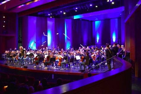 The Pops concert is put on by the SPA band, choir and orchestra in the Huss Center every year.