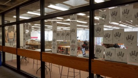 Letters of thankfulness that sophomores wrote have been arranged to read