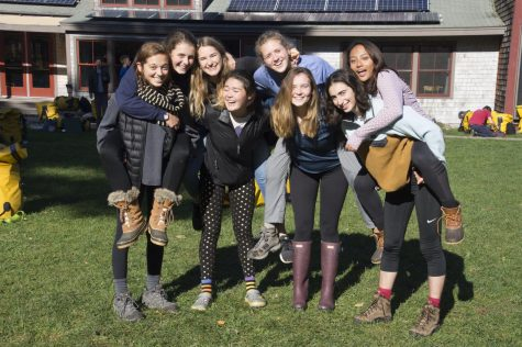 Junior Lucie Hoeschen attended Camp Chewonki for her first semester, learning about the environment and community living.