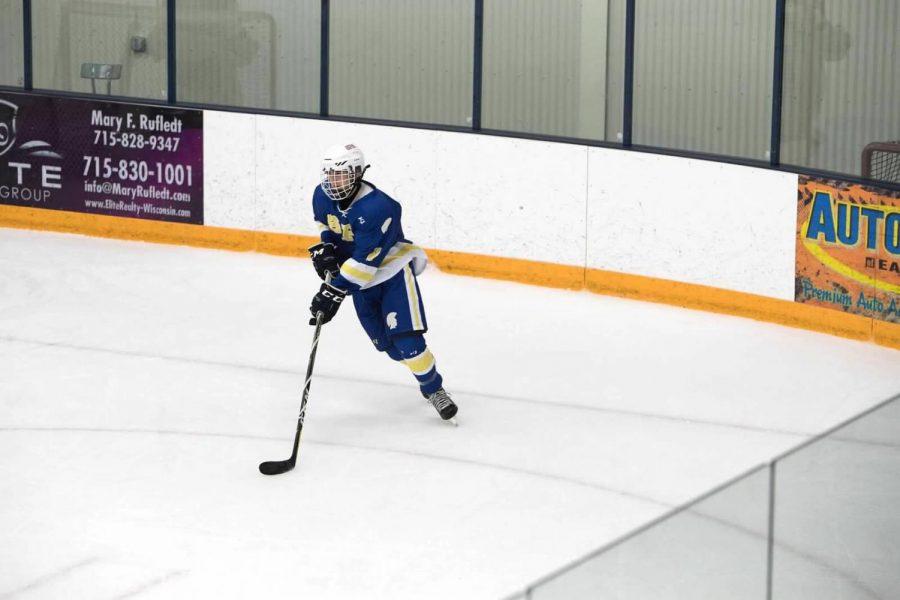 Freshman Michael Bagnoli is a contributor for the Varsity Hockey team.