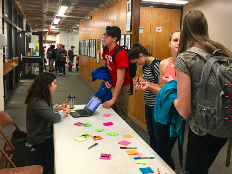 Students+wrote+on+post-its+sharing+one+thing+they+like+about+their+body+to+promote+Body+Positivity+Day.