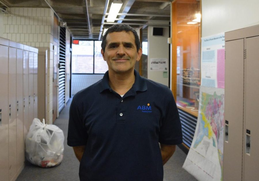 """Luis Perez is the supervisor of custodians who work at SPA. When he's not at work, he loves watching scary movies. Perez also likes watching scary movies.  """"Right now"""
