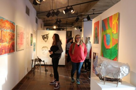 Fall semester art work showcased in winter student show