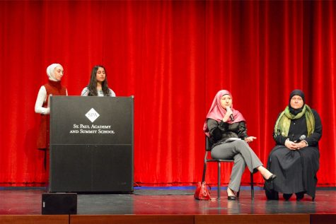 MSA president Iya Abdulkarim and vice president Mashal Naqvi facilitated a Q&A with speakers Tamara Gray and Lori Saroya. This event precludes Hijab Day, which will take place Feb. 1.