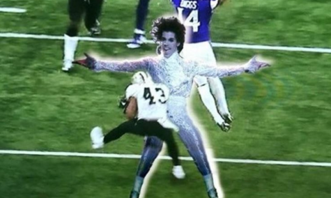 Legendary singer Prince's ghost blocks Saints Cornerback Marcus Williams. PC: City Pages