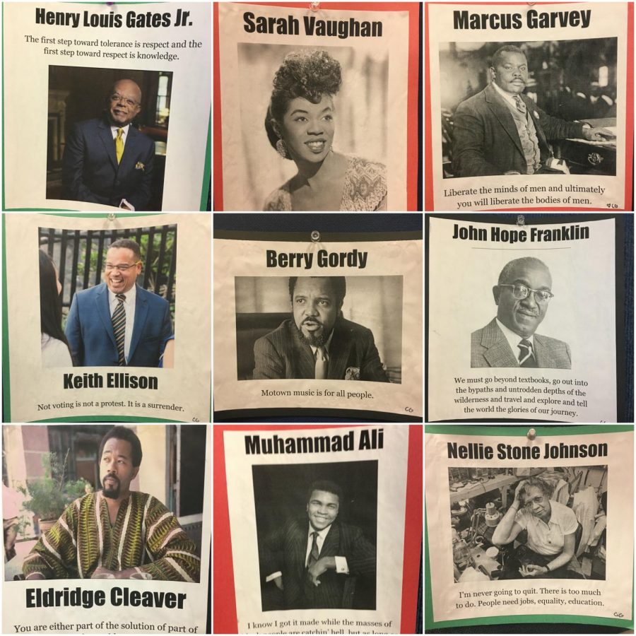 Intercultural Club posted dozens of photos of notable figures in black history.