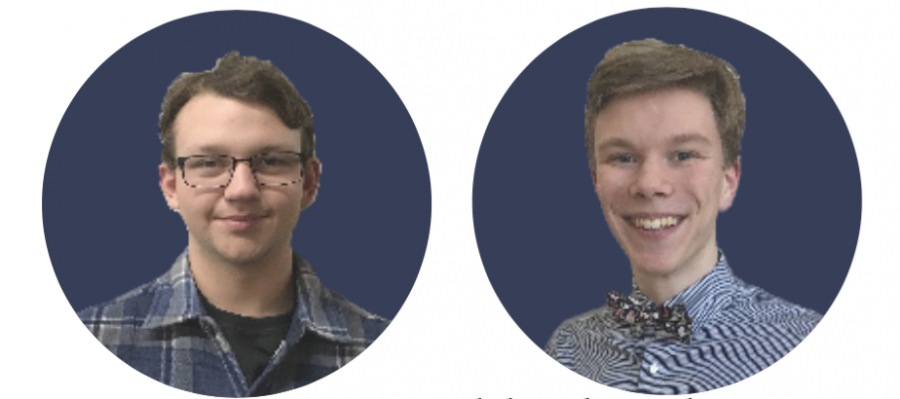 """Juniors Charles Gannon and sophomore Aidan Lanz share their perspective on how their male identity has played a role in shaping their social lives.  """"I think we have a pressure to spend the majority of time with people of the same gender, so I feel that that is the area that I have been affected the most,"""
