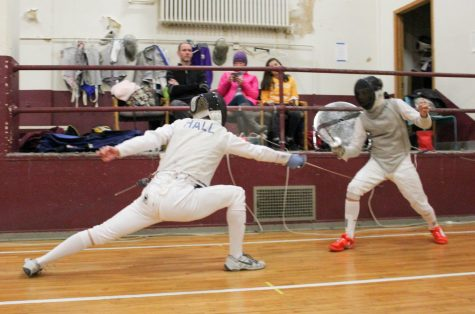 Fencing men's foil victorious