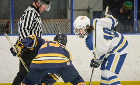 Boys hockey faces off against section rival Mathomedi