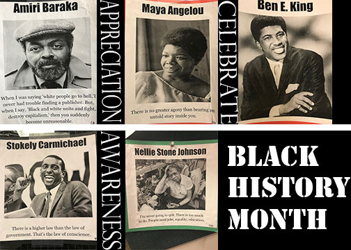 """During Black History Month, Common Ground encourages the SPA community to honor African American figures now and throughout the year. """"Black history should be important to every community because Black history is American history,"""